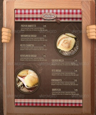 Bakery Menu PSD Mockup