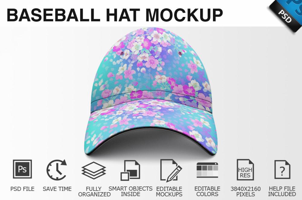 Baseball Hat Mockup PSD