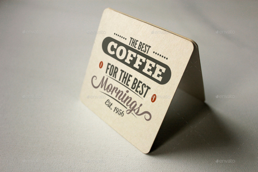 Best Coaster Label Mockup PSD