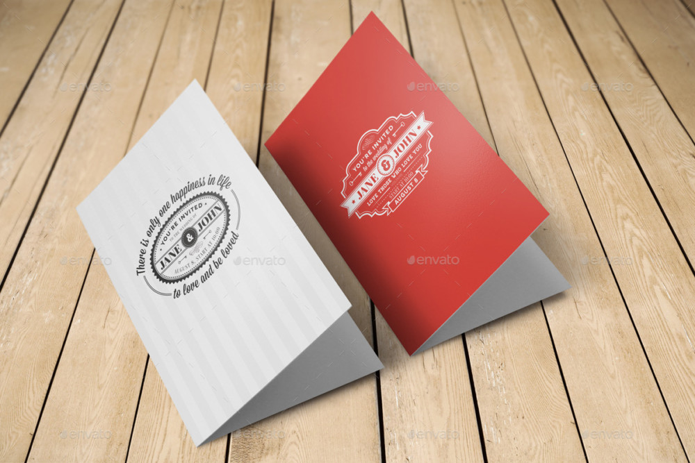Bi Fold Invitation Card Mockup