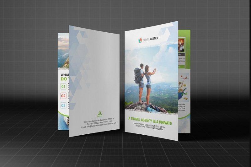 Bi Fold Travel Agency Brochure Template