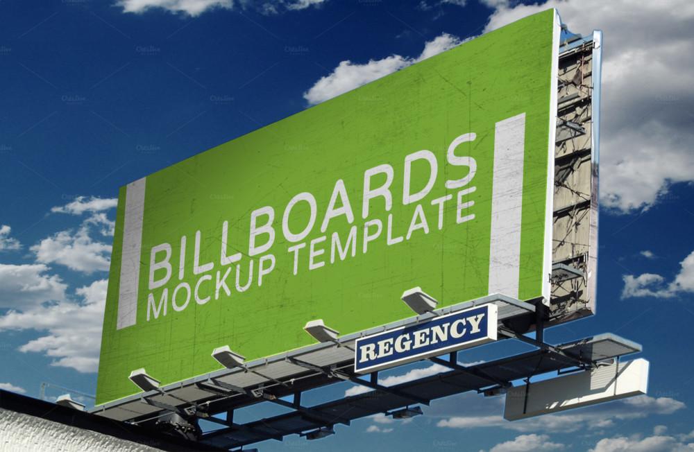 Billboard Ad Mockup Template