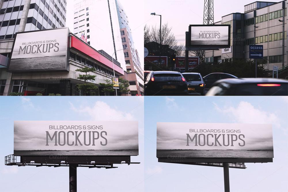 Billboard Advertisement PSD Mockup