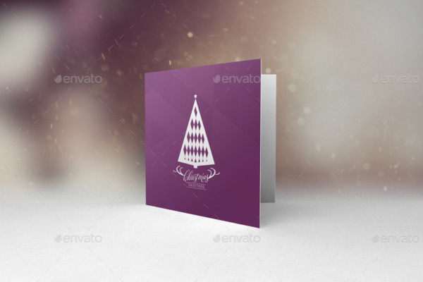 Birthday Greeting Card Mockup PSD