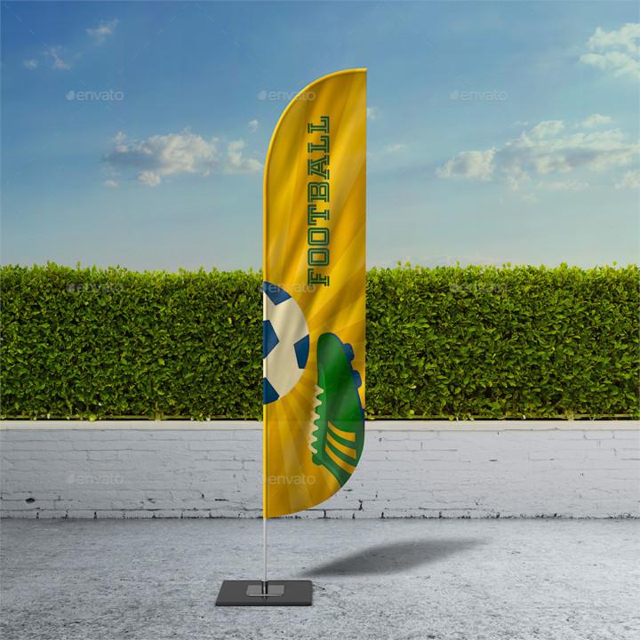 Bow Flag Mockup PSD