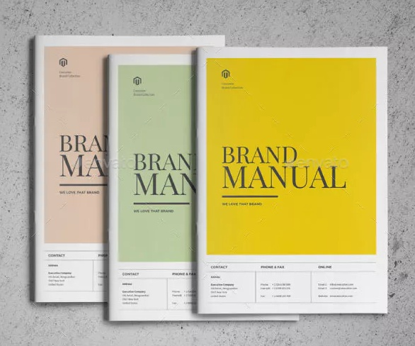 Brand Manual Template PSD