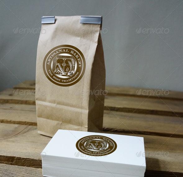 Brown Paper Bag Mockup PSD