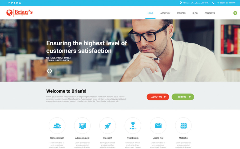 Business Consultancy WordPress Theme