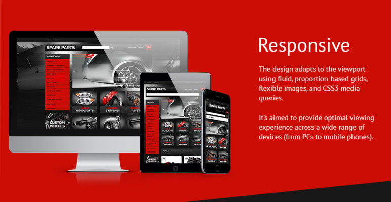 Business Theme for automobile Replacement Shop