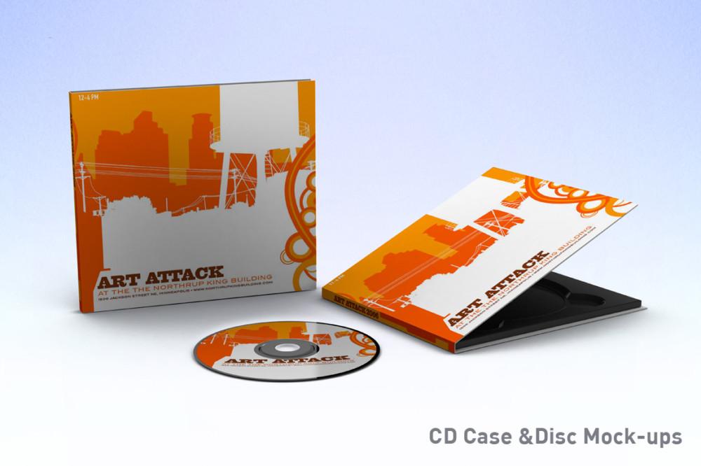 CD Mockup PSD Template