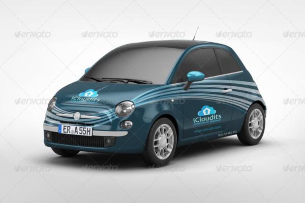 Car Branding Mockup PSD