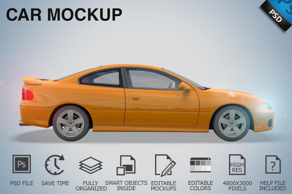 Car Mockup PSD Template