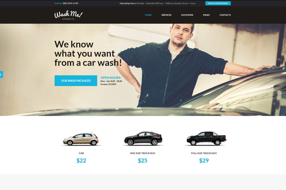 Car Wash WordPress Business Theme