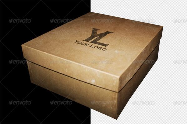 Cardboard Box Mockup Template