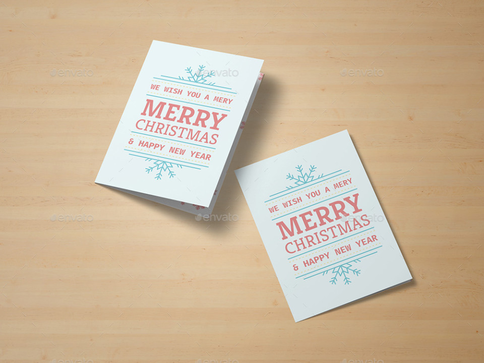 Clean Greeting Card Mockup Template