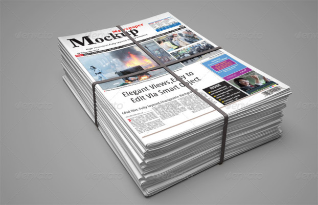 Clean Newspaper Mockup Template