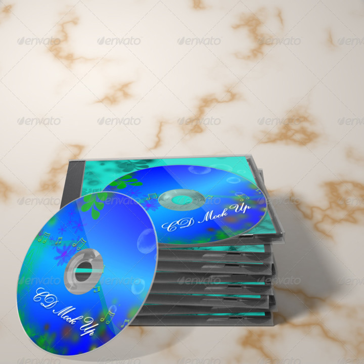 Compact CD Cover Mockup