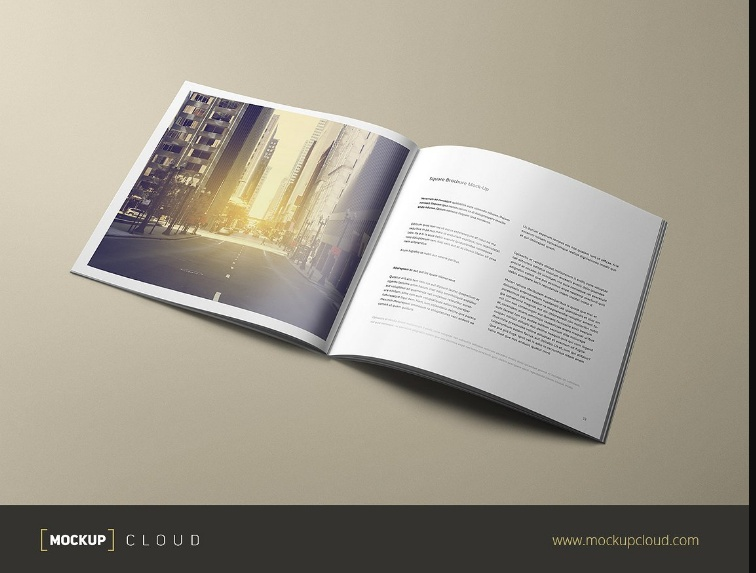 Corporate Booklet Mockup PSD