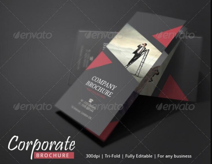 Corporate Brochure Print Template PSD