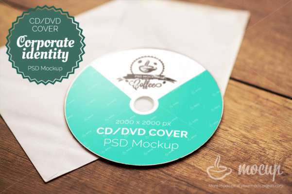 Corporate CD Mockup PSD