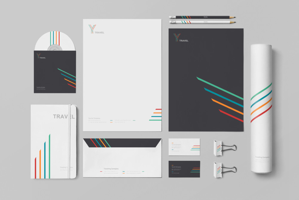 Customizable Branding Mockup PSD Design