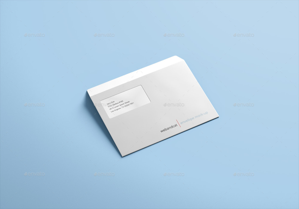 Customizable Envelope Mockup PSD