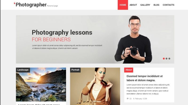 Customizable Photography WordPress Theme