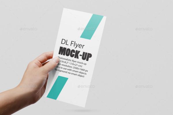 DL Flyer PSD Mockup