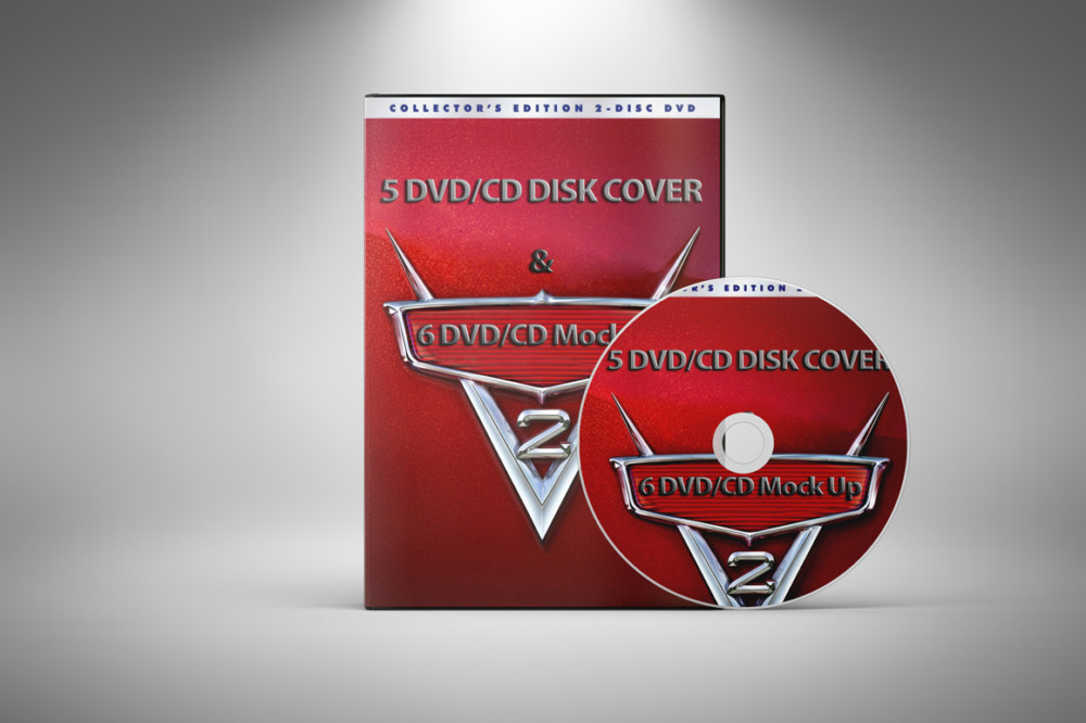 DVD and CD Cover Mockup PSD