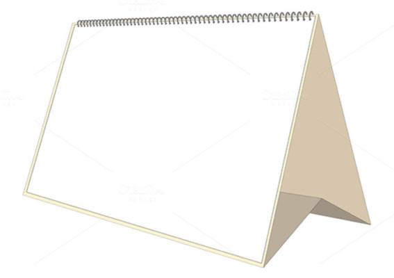 Desk Calendar Vector Mockup