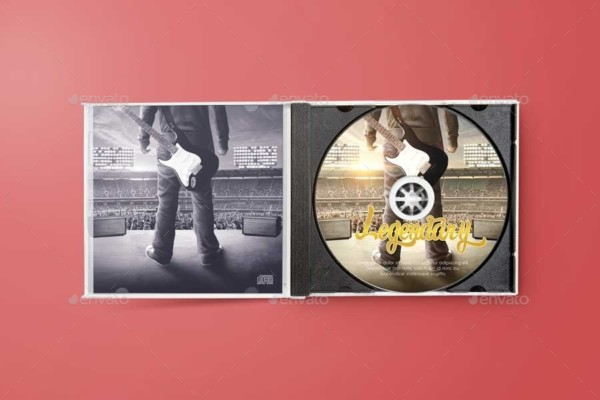 Disk and CD Cover Mockup