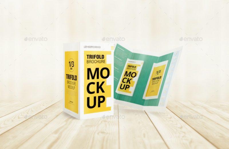 Easy Ediotable Trifold Brochure Mockup