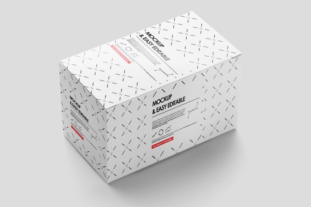 Easy Editable Package Box Mockup