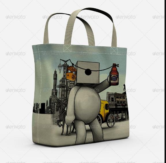 Eco Bags Mockup PSD