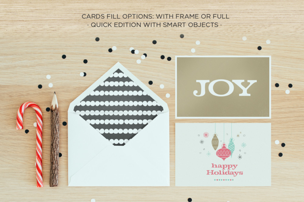 Editable Greeting Card Mockup PSD