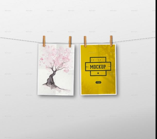 Editable Poster Mockup PSD