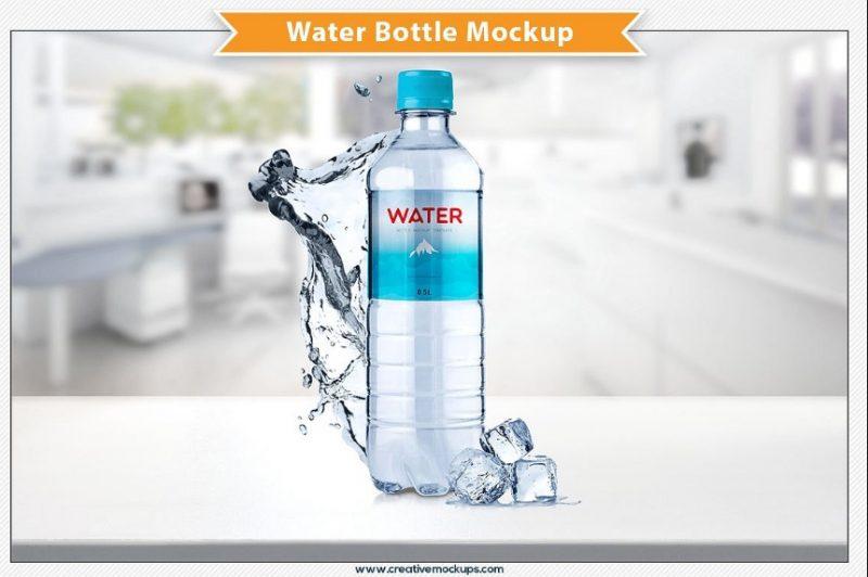 Editable Water Bottle Mockup