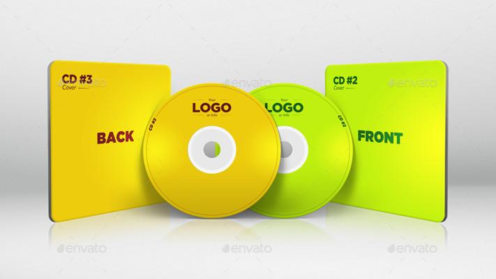 Elegant CD Mockup Template PSD