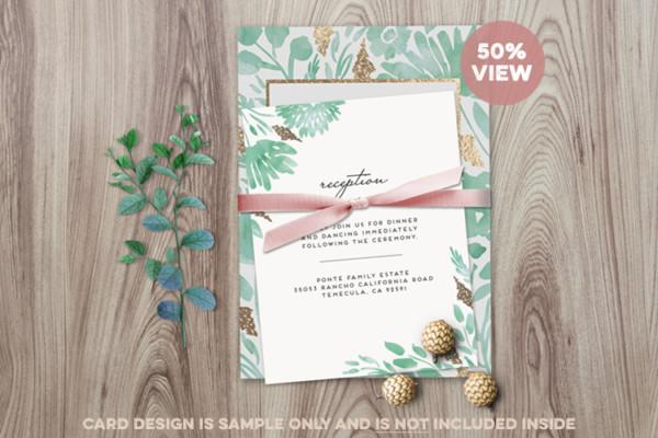 Elegant Invitation Card Mockup
