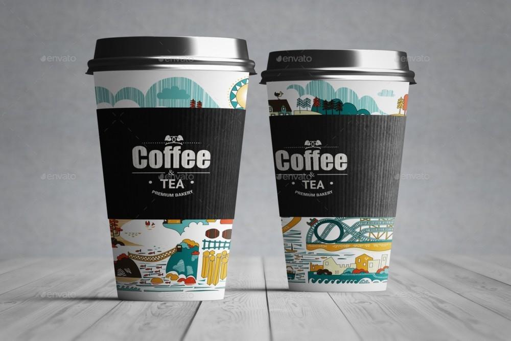 Elegant Paper Cup Mockup PSD