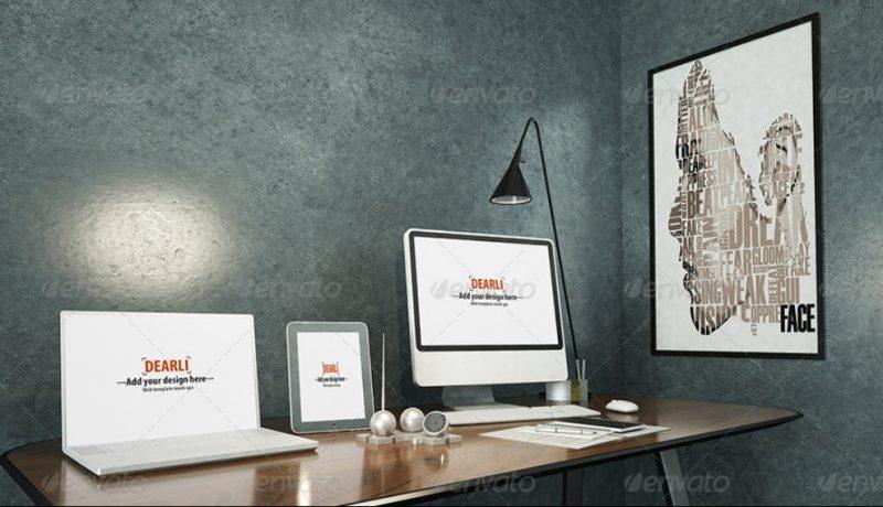 Elegant Wall Mockup PSD