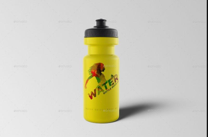 Elegant Water Bottle Mockup