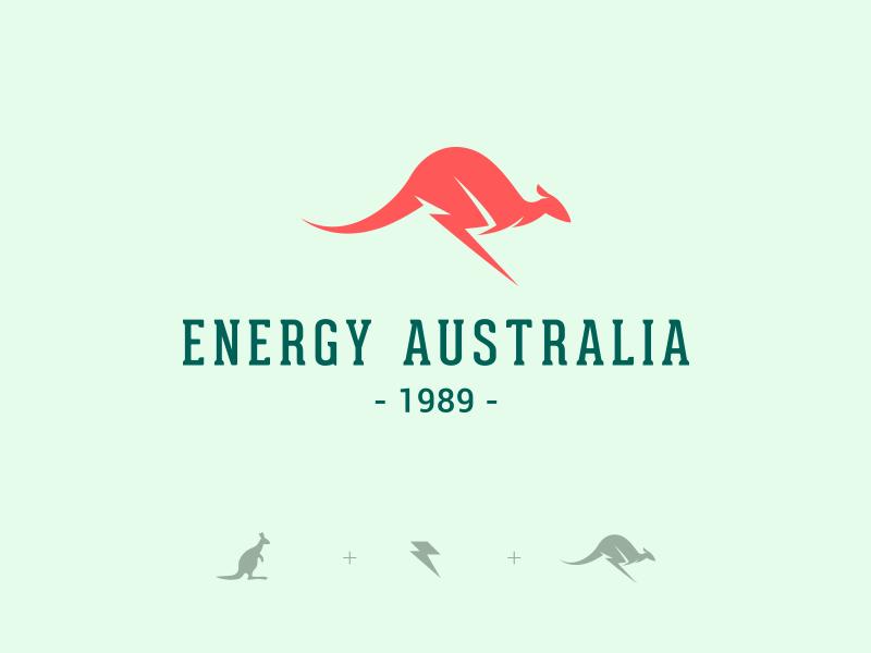 Energy Australia Kangaroo Logo Design