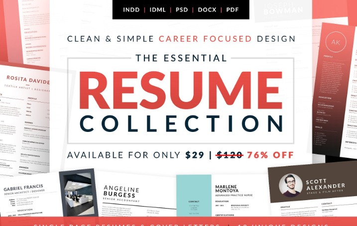 Essential Resume Template PSD
