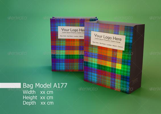Essential paper bag Mockup