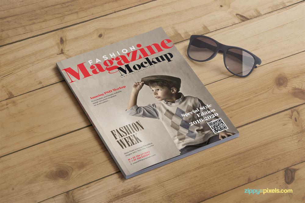 Fashion Magazine Mockup PSD