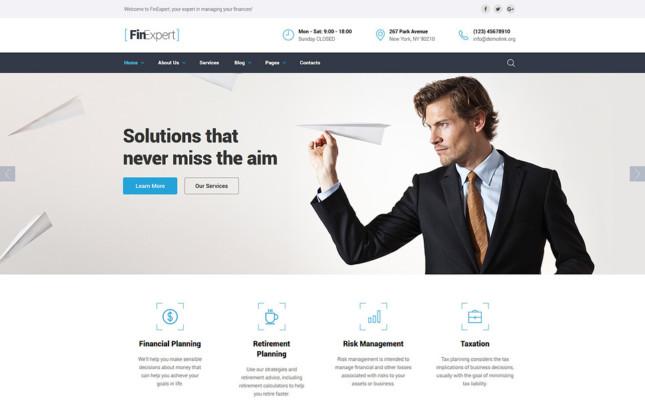 Financial Advisor WordPressTheme