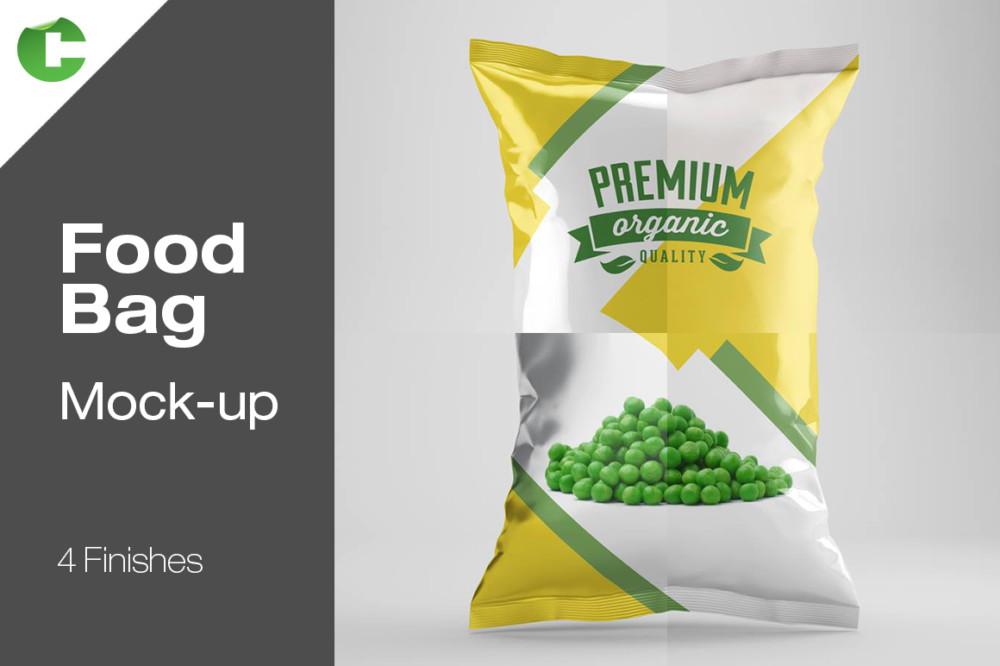Food Bag Mockup Template
