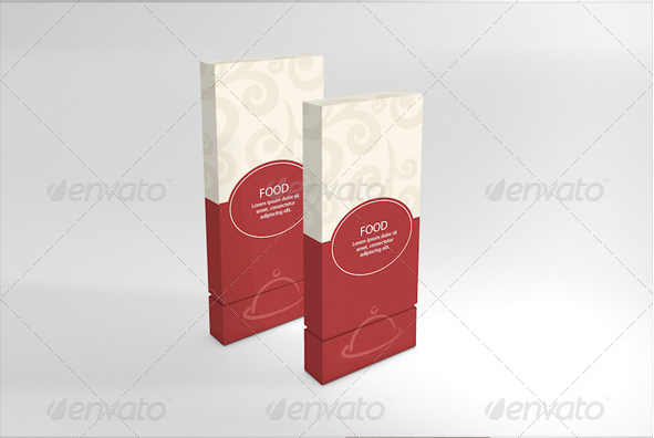 Food Packaging Box Mockup