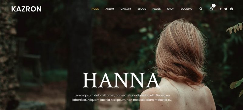 Full Screen Photography WordPress Theme